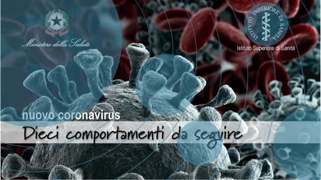Coronavirus: il decalogo del Ministero della Salute