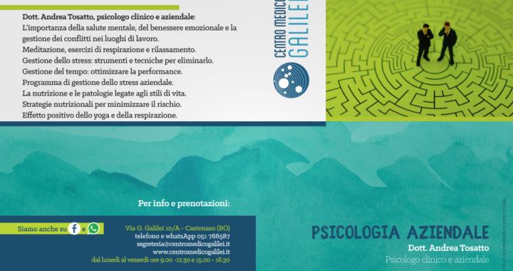 Psicologia aziendale - Dott. Andrea Tosatto - Centro Medico Galilei