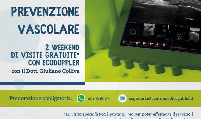 2 weekend di prevenzione vascolare con il Dott. Giuliano Colliva al Centro Medico Galilei