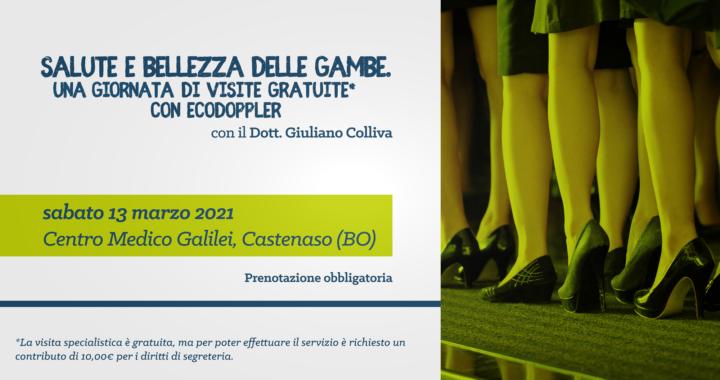 Dott. Colliva - Salute e bellezza delle gambe - 13 marzo 2021 @Centro Medico Galilei Castenaso