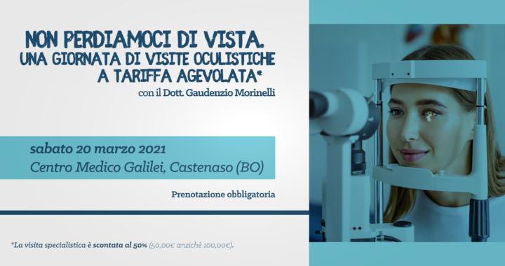 Non perdiamoci di vista - sabato 20 marzo 2021 @Centro Medico Galilei Castenaso - Dott. Gaudenzio Morinelli